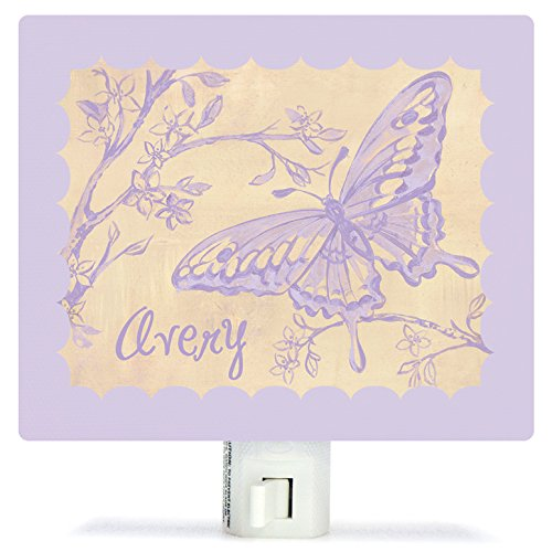 Toile Butterfly by Heather Gentile-Collins - Personalized Night Lights, 5