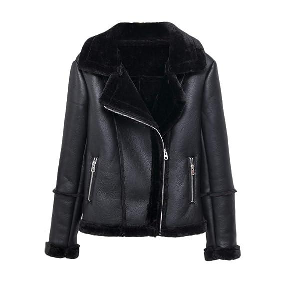 Reißverschluss Damen Top V Mantel Jacket Missmao Übergangsjacken Coat Schrägem Wintermantel Ausschnitt Kleidung Fell Winterjacke Jacke Mit Yf76gybIv