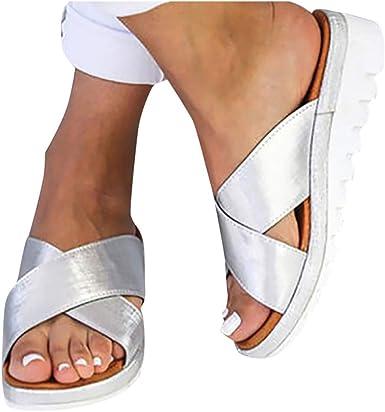 Flat Sandals Women Comfortable Platform Summer Womens Shoes Ladies Summer Sandals,Pink,5.5