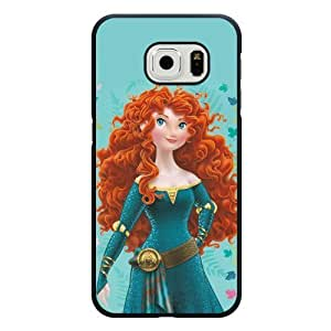 DiyPhoneDiy Disney Series Case For Samsung Galaxy Note 4 Cover , The Little Mermaid For Samsung Galaxy Note 4 Cover Case, Only Fit For Samsung Galaxy Note 4 Cover (Black Frosted Shell)