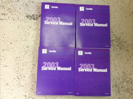 2003 CADILLAC SEVILLE Service Repair Shop Manual Set FACTORY OEM 03 BOOKS NEW