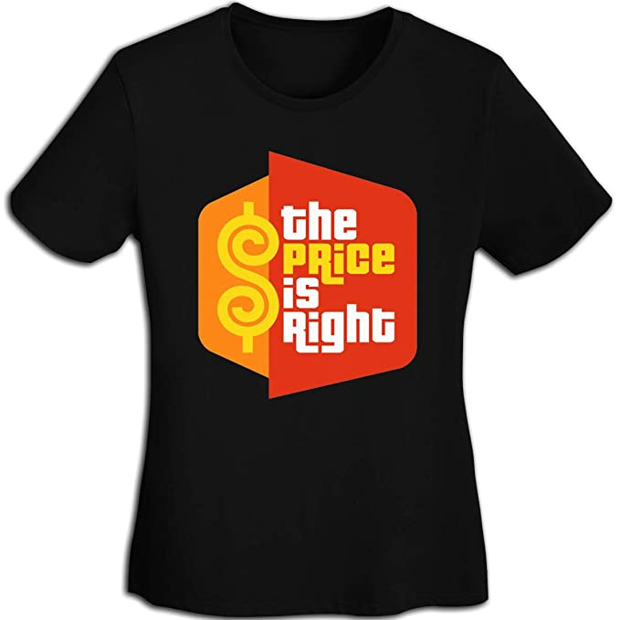f718c2494be Amazon.com  Women s Casual The Price is Right Tee T Shirt Short Sleeve O-Neck  Cotton T-Shirt Sports Tops for Teens Plus Size Shirt  Clothing