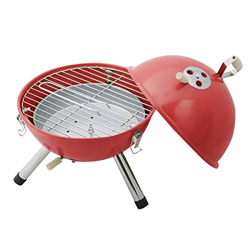 Mini BBQ Stove Barbecue Oven Charcoal Grill Picnic Cookware Outdoor Camping (Red)