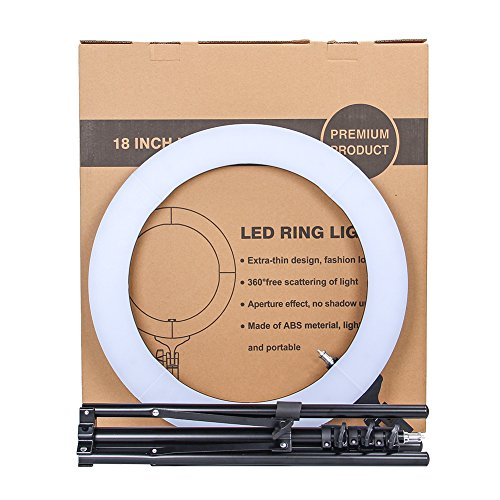 ZOMEi 18'' Dimmable LED Ring Light for Makeup Selfie Photographic Ring Light by ZOMEi (Image #8)