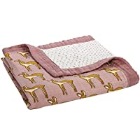 "Milkbarn Bamboo and Cotton Big Lovey Baby Blanket ""Rose Doe"""