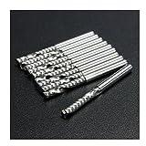 2-3 Business Days Fast Delivery 10pcs Single Flute End Mill Cutter Cutting Edge Diameter HSS & Aluminium Lathe Cutter CNC Bit Tool