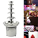Tek Motion 27' 5-Tier Stainless Steel Chocolate Fondue Fountain LARGE for Big Wedding Party Hotel