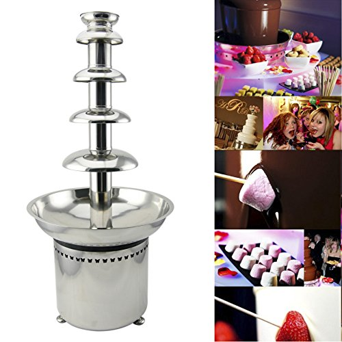 Tek Motion 27' 5-Tier Stainless Steel Chocolate Fondue Fountain LARGE for Big Wedding Party Hotel (Chocolate Fountain Buffet compare prices)