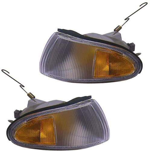 Mitsubishi Mirage 4 Door (1993-1996 Mitsubishi Mirage 4-Door Sedan Park Corner Light Turn Signal Marker Lamp Pair Set Left Driver And Right Passenger Side (1993 93 1994 94 1995 95 1996 96))