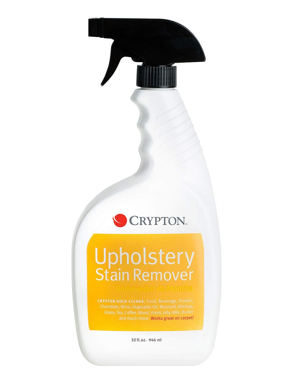 Crypton Gold Upholstery Stain Remover – Food, Beverage, Protein & more (32 fl. oz.)