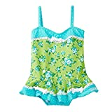 Azul Baby Girls Turquoise Green Garden Party Skirted One Piece Swimsuit 18M