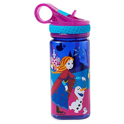 Disney Frozen Water Bottle with Built-In Straw (Best Sherry For Drinking)