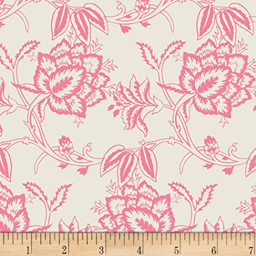 - David Textiles Paris Floral Cream Fabric Fabric by the Yard