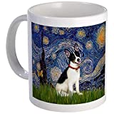 CafePress - Starry Night & Rat Terrier Mug - Unique Coffee Mug, Coffee Cup