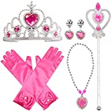 301874145 Princess Dress Up Costume Accessories Aurora Set For Princess cosplay Gloves  Tiara Wand and Necklace (
