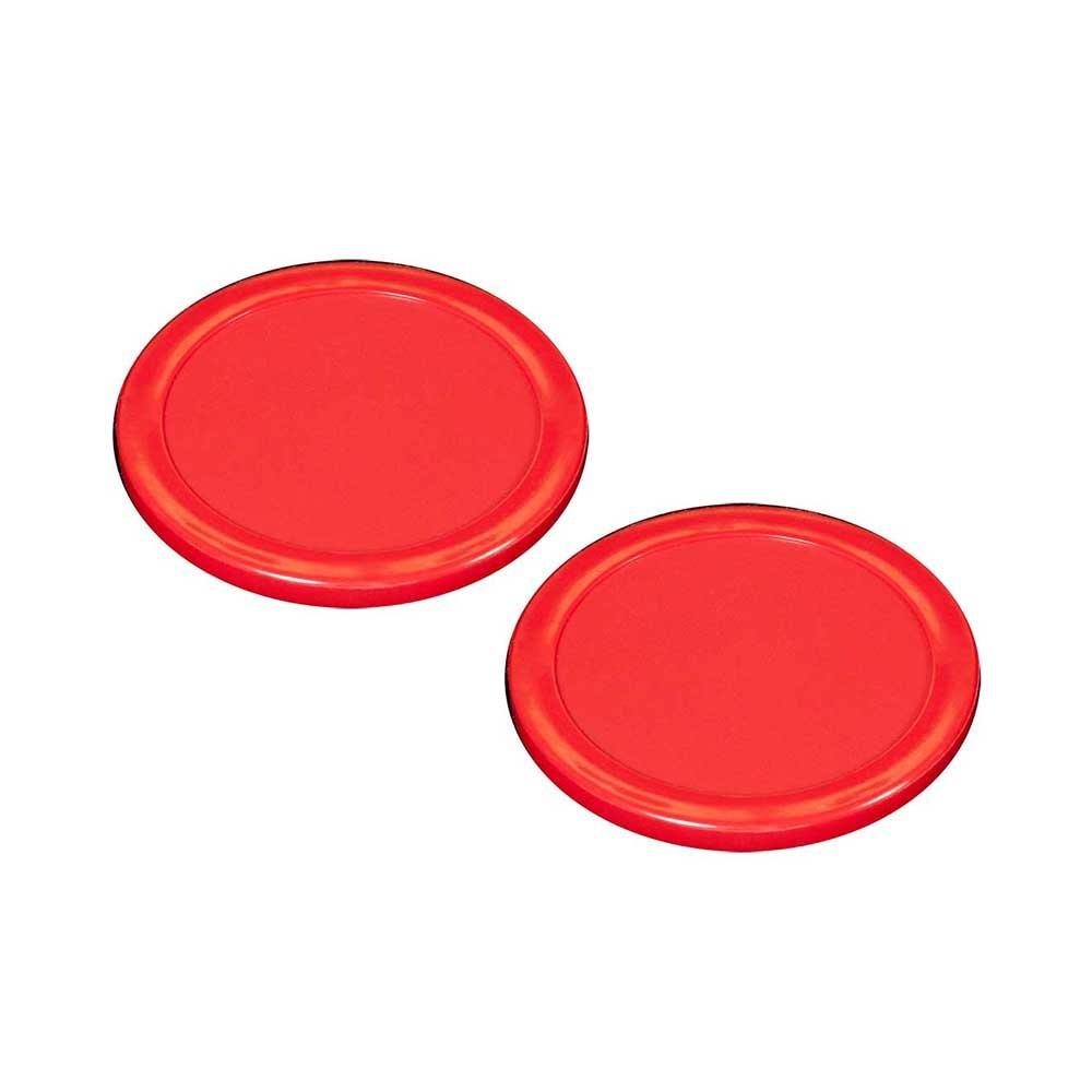 3-1/4'' Shelti Red Air Hockey Puck - Set of 2