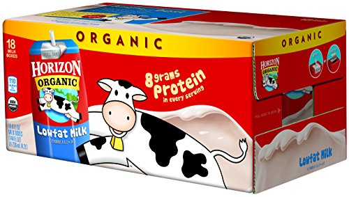 Horizon Organic 1 % Low Fat Milk, 8-Ounce Aseptic Cartons (Pack of 18)
