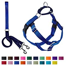 2 Hounds Design Freedom No-Pull Harness with Leash, Small, 1-Inch Wide, Royal Blue