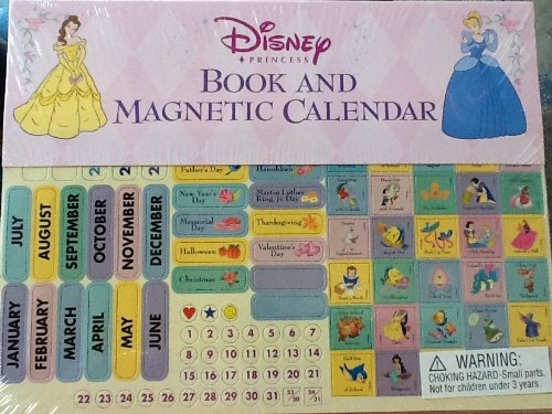 Magnetic Disney Princess Calendar Book ~ Undated, Reusable Year After Year ~ Excellent Collection Gift (Kids 2015 Calender)
