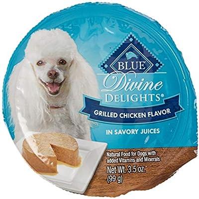 BLUE DIVINE DELIGHTS GRILLED CHICKEN WET DOG FOOD IN SAVORY JUICE 3.5 OZ