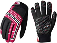 Vgo 1Pair 5℃/41℉ or Above Juniors' Cycling Gloves, Bike, Biking, Bicycle, Outdoor Gloves, Touchscreen Comp