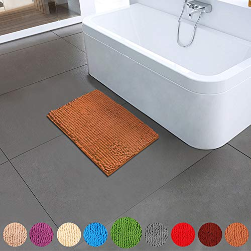 - Bathroom Rugs Non Slip Bath Mat ORANIFUL Microfiber Plush Super Water Absorbent Machine Wash/Dry Shaggy Toilet Mat Extra Soft (17.5