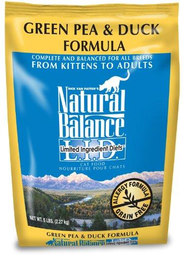 Natural Balance Green Pea and Duck Formula Cat Food, 5-Pound Bag, My Pet Supplies