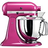 kitchenaid mixer extra bowl - KitchenAid Artisan 5KSM175PSECB 5 Qt.Stand Mixer Cranberry with TWO Bowls & Flex Edge Beater 220 VOLTS NOT FOR USA