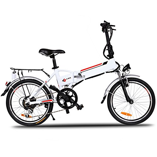 Folding Electric Bike with 36V Lithium Ion Battery 7 Speed E Bike 250W