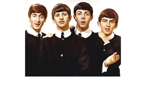 The Beatles John Paul Ringo George Early Pose With Classic Haircut