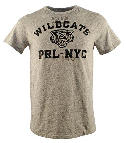 Polo Ralph Lauren Men's Short Sleeve Wildcats Jersey - Head Nyc With Cat Man On