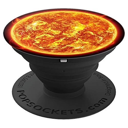 Solar System Planetary Pops - The Sun Silhouette Artwork - PopSockets Grip and Stand for Phones and Tablets
