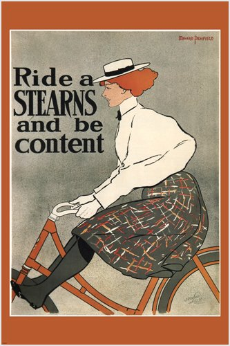RIDE A STEARNS BICYCLE vintage AD poster edward penfield US 1896 24X36 NEW