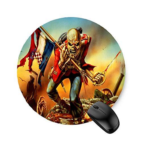Iron Maiden Evil Eddie Skull Poster (Round) Mouse Pad 7.8