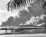 A navy photographer snapped this photograph of the Japanese attack on Pearl Harbor in Hawaii on Dece