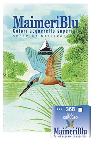 Maimeriblu Watercolor (MaimeriBlu Artist Watercolor Paints, Cerulean Blue, Half Pan,)