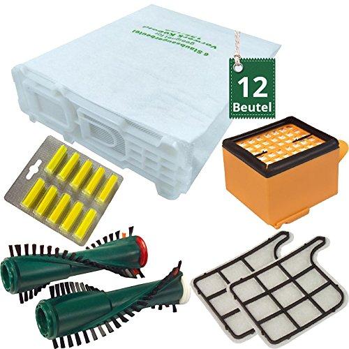 12 bolsas de bolsas de aspiradora Filtro Cepillos Aroma para ...