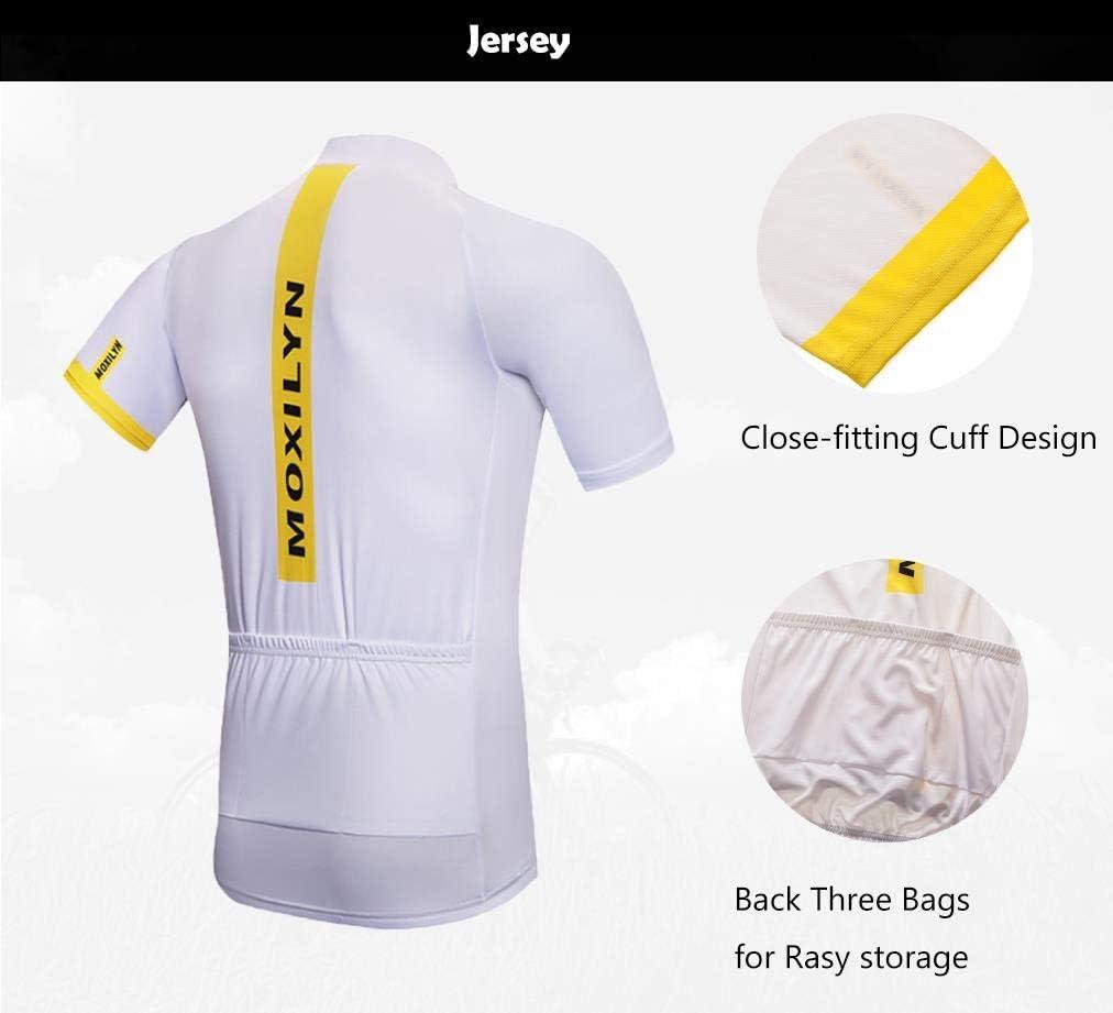 Top de Ciclismo Secado R/ápido Jerseys de Ciclismo Ropa de Ciclismo Moxilyn Camisetas de Ciclismo para Hombre Transpirable y Que Absorbe El Sudor Mountain Bike//MTB Shirt Camiseta Corta