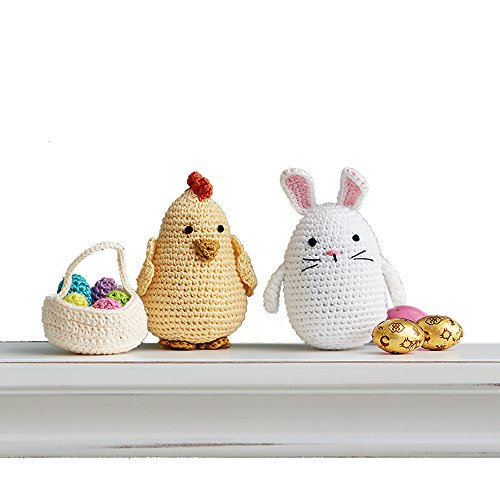 Taraluna - Fair Trade, Organic, Green & Ethical Gifts Crocheted Easter Bunny & Chick with Easter Egg Basket