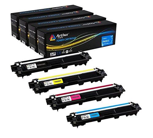 Arthur Imaging Compatible Toner Cartridge Replacement for Brother TN221 TN225 (Black, Cyan, Yellow, Magenta, ()