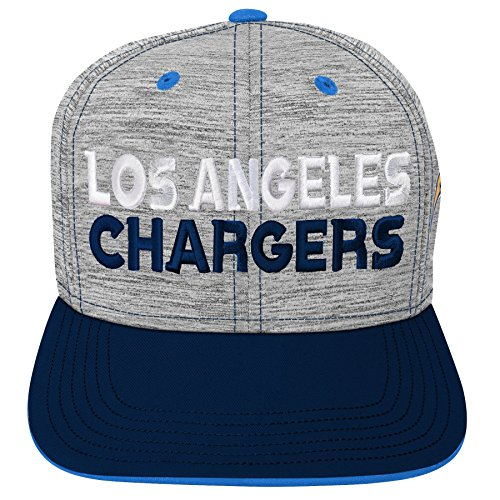 Outerstuff NFL NFL LA Chargers Youth Boys Space Dye Snapback Hat Heather Grey, Youth One Size