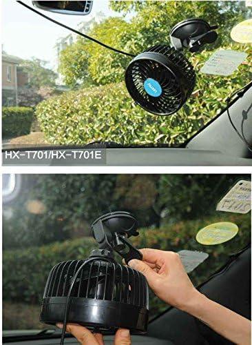 Ventilador de coche de 24V, un camión grande, tipo aspirador potente, 12V voltios de refrigeración, el ventilador, el coche coche de 6 pulgadas, ventilador pequeño,12V un solo cabezal portabrocas de aspiración: Amazon.es: