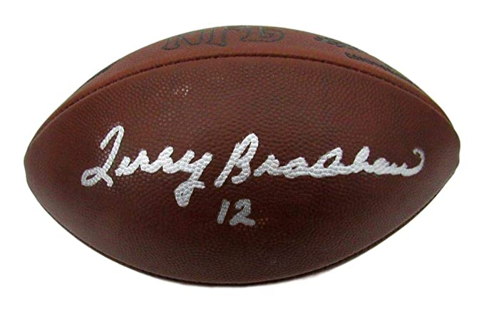 e784e117f56 Terry Bradshaw Steelers Signed Leather Wilson