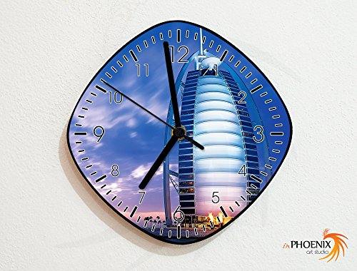 Burj Al Arab - Dubai - United Arab Emirates - UAE - Country Asia - Novelty Gift - Custom Name Wall Clock