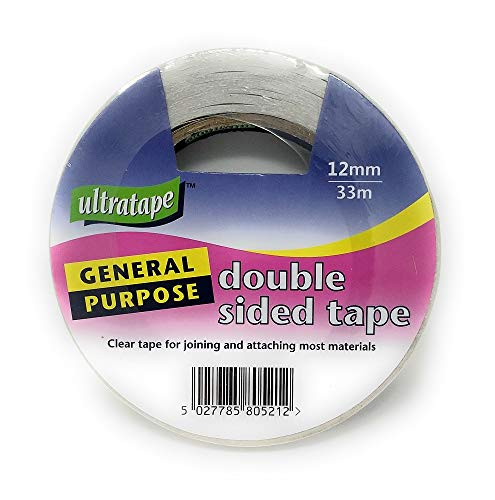 general purpose double sides/sided clear sticky tape 12mm x 33m for...