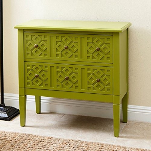Abbyson Living Accent Table In Lime Green