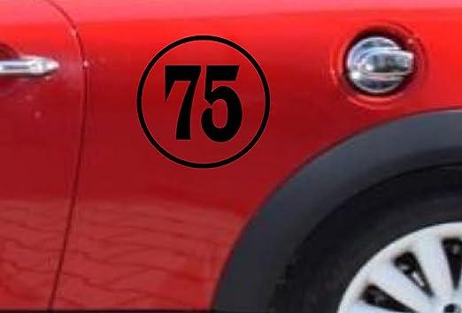 Number # side car door Classic Circle Rally Racing Sticker Vinyl Decal JDM Mini
