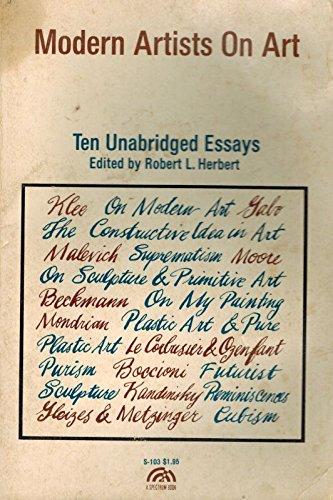 Modern Artists on Art: Ten Unabridged Essays (Spectrum Books)
