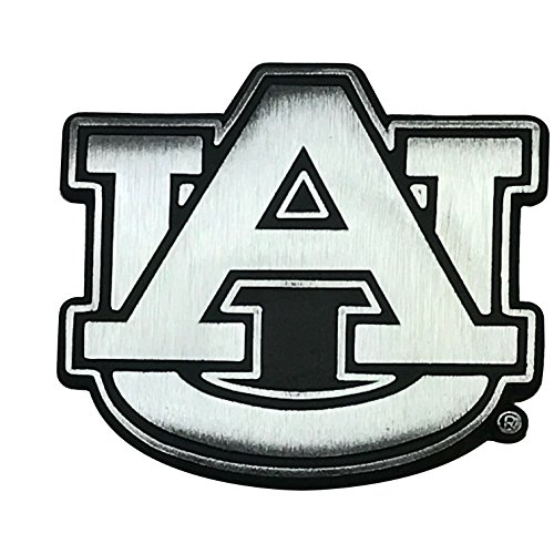 Auburn Metal - NCAA Collegiate Metal Auto Emblem (New Brushed Matte Style) (Auburn)