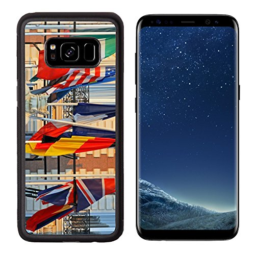 Msd Premium Samsung Galaxy S8 Aluminum Backplate Bumper Snap Case World International Flags At Poles In The Afternoon Image 19050288